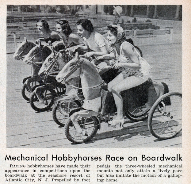 Mechanical Hobbyhorses Race on a Boardwalk