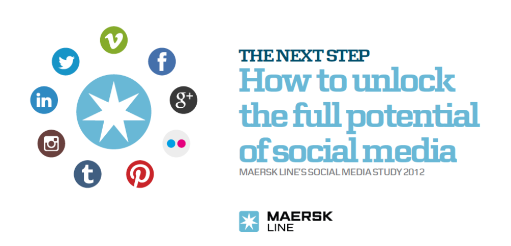 The cover of Maersk Line's Social Media Study 2012