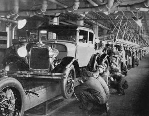 ford moving assembly line